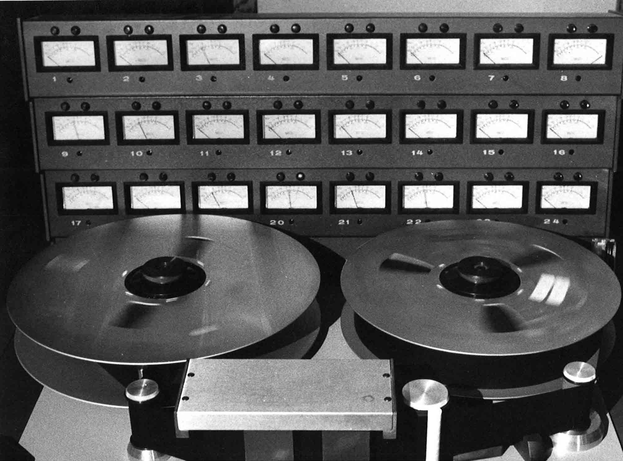 "24 tack recorder 2"" tape."