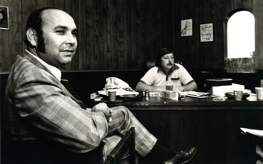 Roland Garcia, at left, was the face of Hacienda Records in the 1970s. The building on south Staples Street is where scores of musicians recorded records and singles.