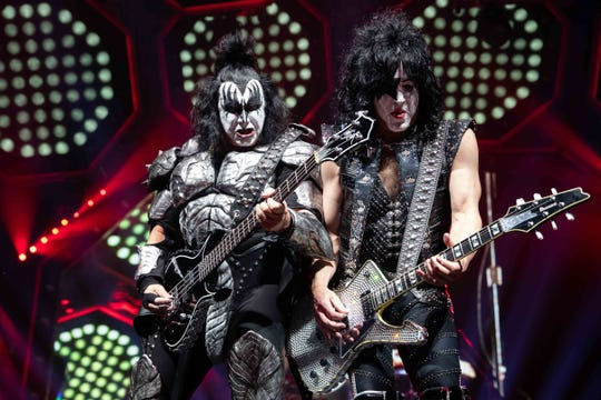 Kiss performs a sold-out show at the American Bank Center on Tuesday, Feb. 19, 2019.