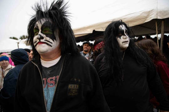 Kiss fans at a sold-out show at the American Bank Center on Tuesday, Feb. 19, 2019.