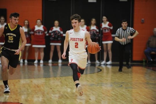 Piketon defeated Lynchburg Clay 55-22 in a Division III sectional game Tuesday night in Waverly, Ohio.