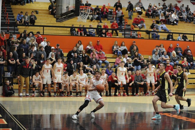 Piketon basketball's Alex Blanton earned the male Athlete of the Week award after scoring 30 points on seven three-pointers in a 48-46 win over Westfall on Friday.