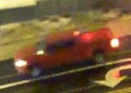 Police are searching for a red truck, possibly a Chevrolet Silverado, involved in a fatal hit-and-run in Corryville Wednesday.
