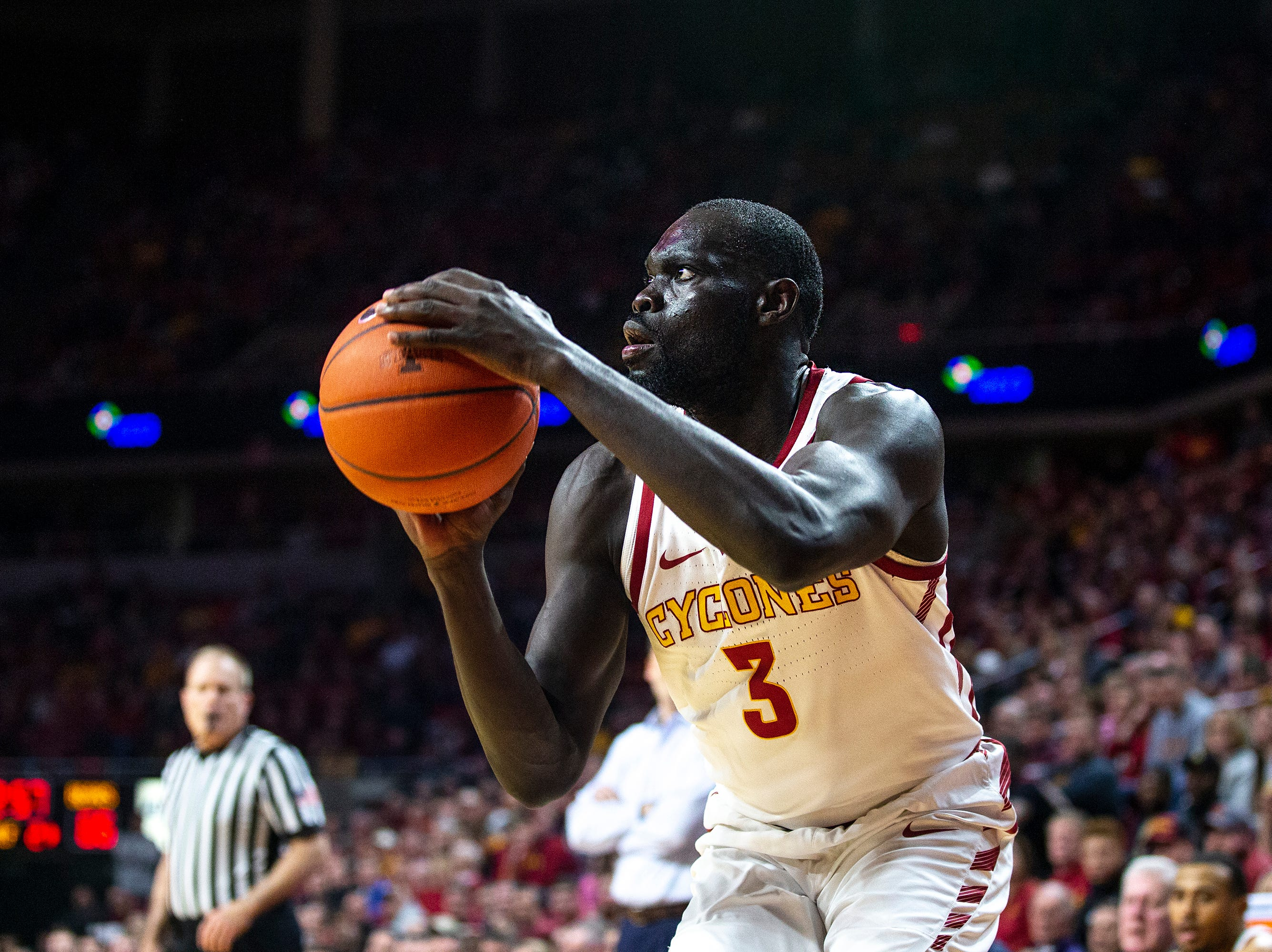 Iowa State's Marial Shayok shoots the ball during the Iowa State men's basketball game against Baylor on Tuesday, Feb. 19, 2019, in Hilton Coliseum. The Cyclones fell to the Bears 69-73.