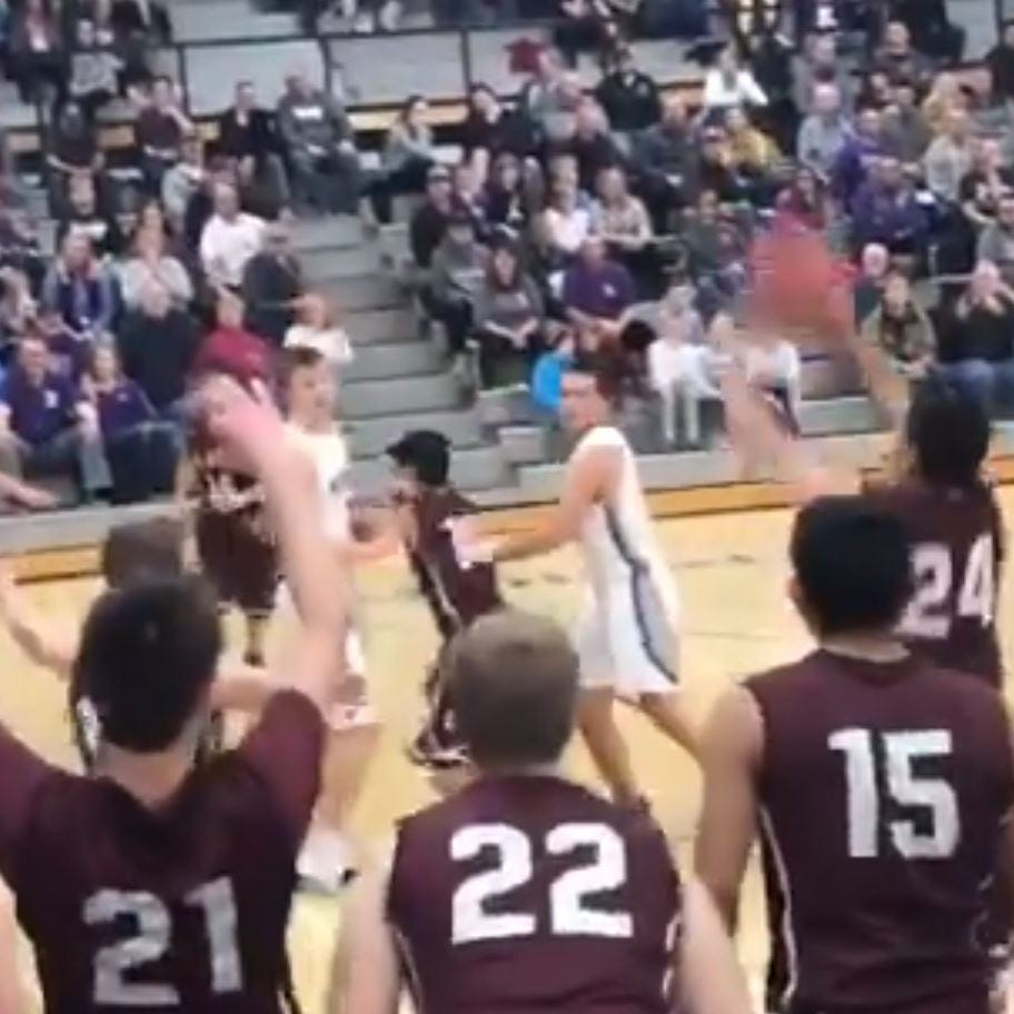 Iowa high school player's last shot brings opposing team's fans to their feet