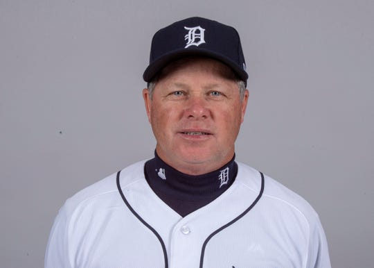 Detroit Tigers quality control coach Joe Vavra (52) poses for a headshot on media day at Joker Marchant Stadium.