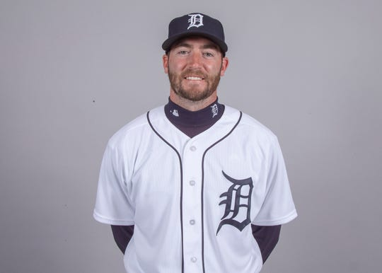 Detroit Tigers relief pitcher Chris Smith (71) poses for a headshot on media day at Joker Marchant Stadium.