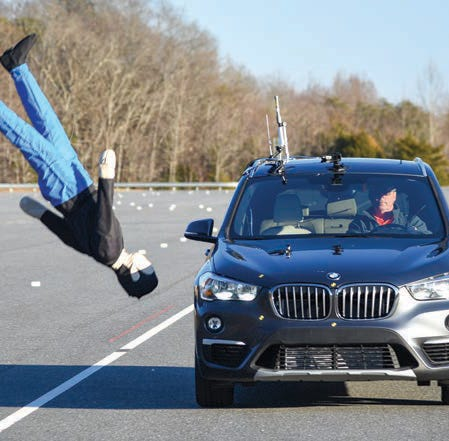 BMW X1's pedestrian detection system sent crash test dummies 'airborne'