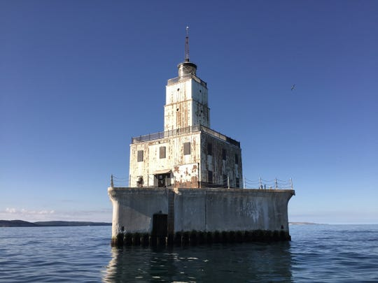 Courtesy photo The North Manitou Shoal Light, which sits in Lake Michigan roughly 8 miles off the shore of Leland.