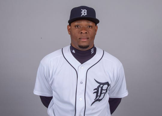 Detroit Tigers starting pitcher Gregory Soto (65) poses for a headshot on media day at Joker Marchant Stadium.