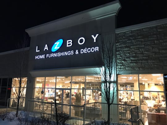 An exterior photograph of a La-Z-Boy store in Troy, February 19, 2019.