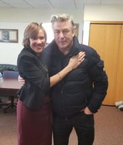 The City of Flint said Alec Baldwin stopped by to surprise Mayor Karen Weaver.