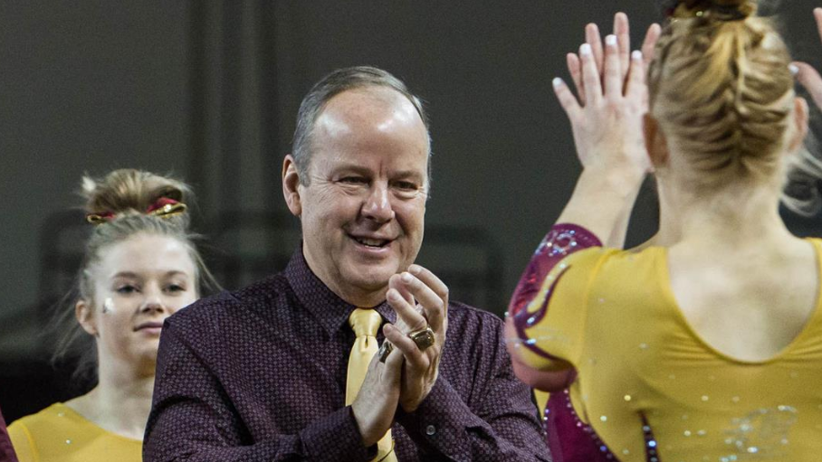 """Jerry Reighard, Central's women's gymnastics coach since 1984, has been placed on administrative leave pending an """"internal investigation."""""""