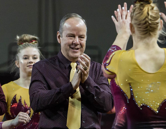 Central Michigan women's gymnastics coach Jerry Reighard.