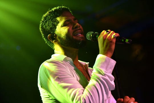 "Jussie Smollett performs onstage at Troubadour on February 02, 2019 in West Hollywood, California. Chicago detectives suspect the ""Empire"" actor Smollett filed a false police report when he said he was the victim of a racist, homophobic attack in downtown Chicago late last month."