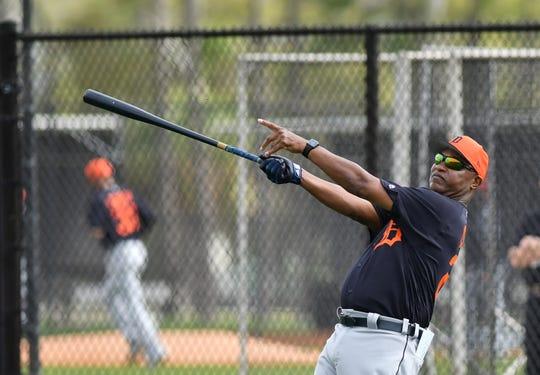 Tigers third-base coach Dave Clark