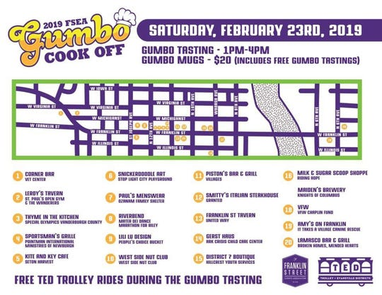 The Sixth Annual Gumbo Cook Off is Saturday along Franklin Street.