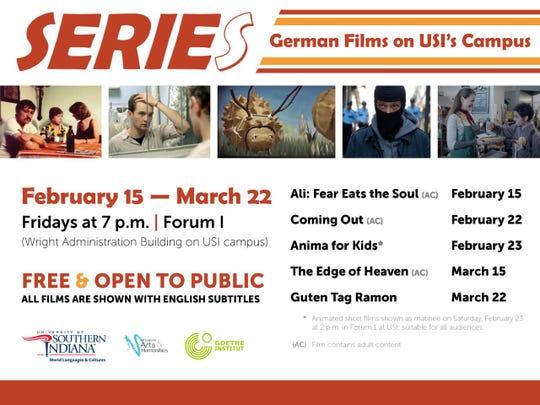 USI's German program is presenting a German Film Series.