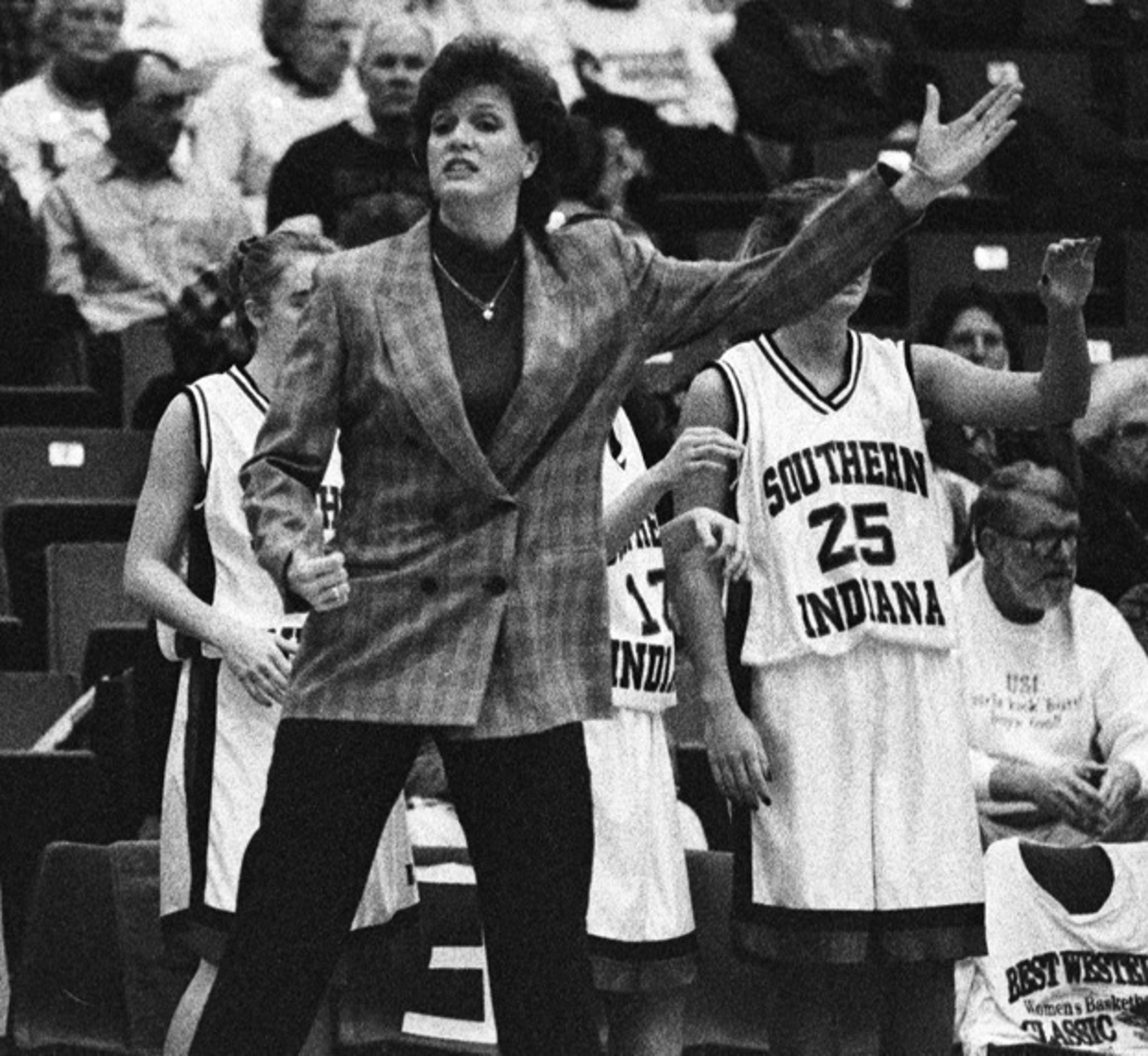 USI women's coach Chancellor Dugan led the program to national prominence in the 1990s.