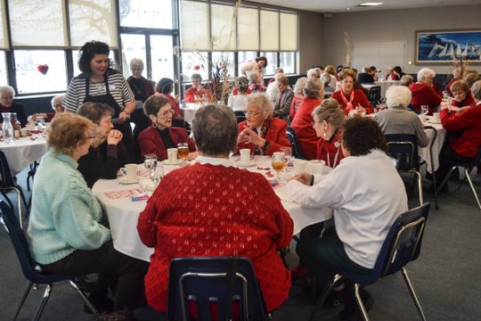 Fifty-two widows attended the Love Port Clinton Valentine's Lunch. The event was the first of several community events local clergy plan to host as a way of sharing God's love.