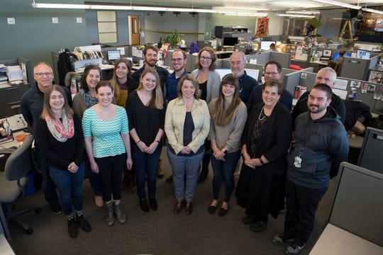 The newsroom staff of The Coloradoan