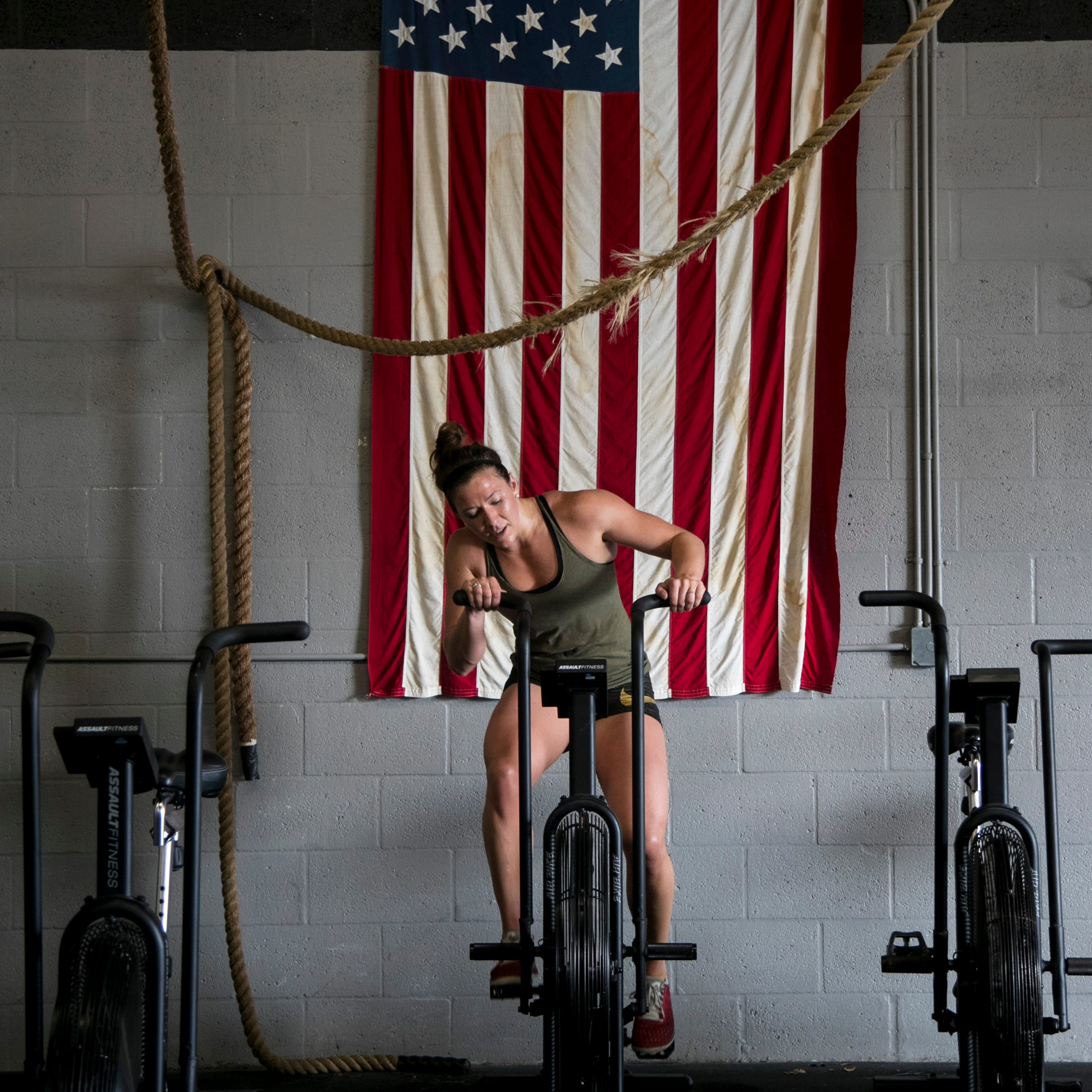 Alison Cowdin works out at CrossFit 239 on Wednesday, Feb. 20, 2019, in Fort Myers. The gym is one of many across the world preparing for the 2019 CrossFit Open.