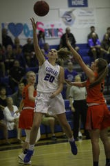 Hannah Galbreath hits a layup over Bradenton Christian in the Class 3A regional finals last Tuesday.