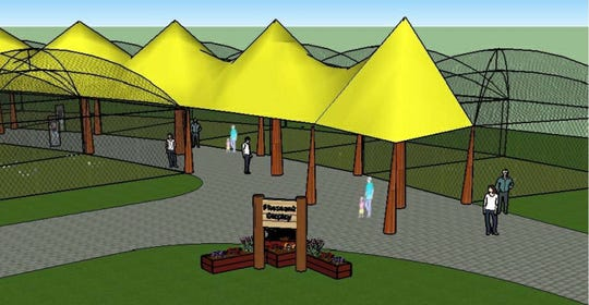 A drawing of the entrance to the planned new pheasant exhibit at Bruemmer Park Zoo in Kewaunee. Funds raised at this year's Zoupart go toward the exhibit.