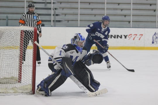 Former Ashwaubenon goalie Lindsey Strainis is one of the best players in Marian University history.