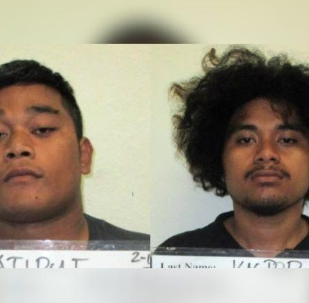 Two men accused of stealing cases of beer from gas station, mom and pop store in Barrigada