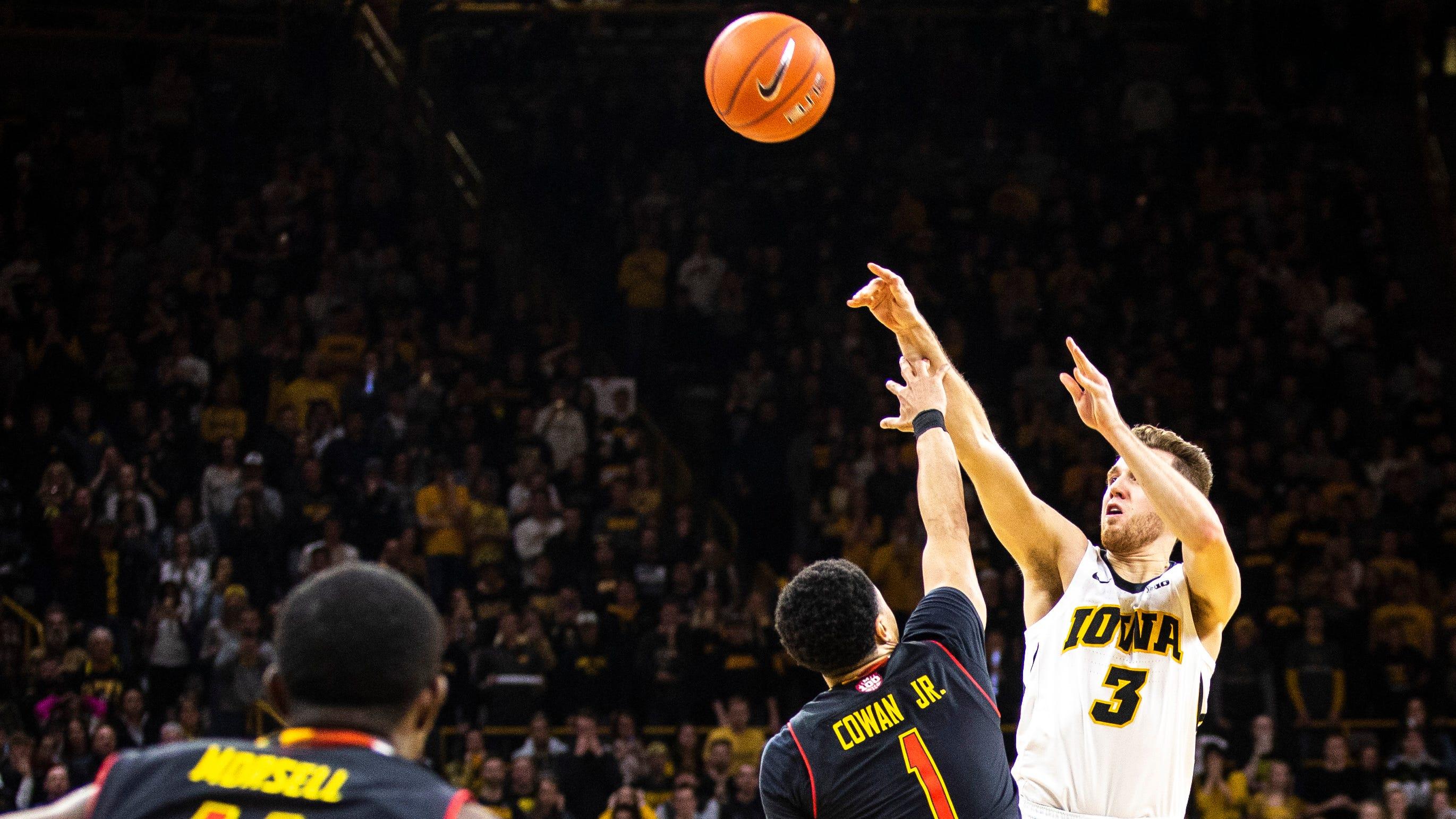 Iowa's last-second shots fall short; Maryland walks away with 66-65 win