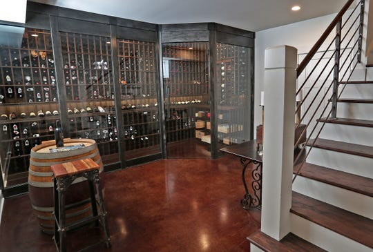 This is the basement wine cellar at 7349 N. Pennsylvania St. in Meridian Hills, Friday, Feb. 15, 2019.