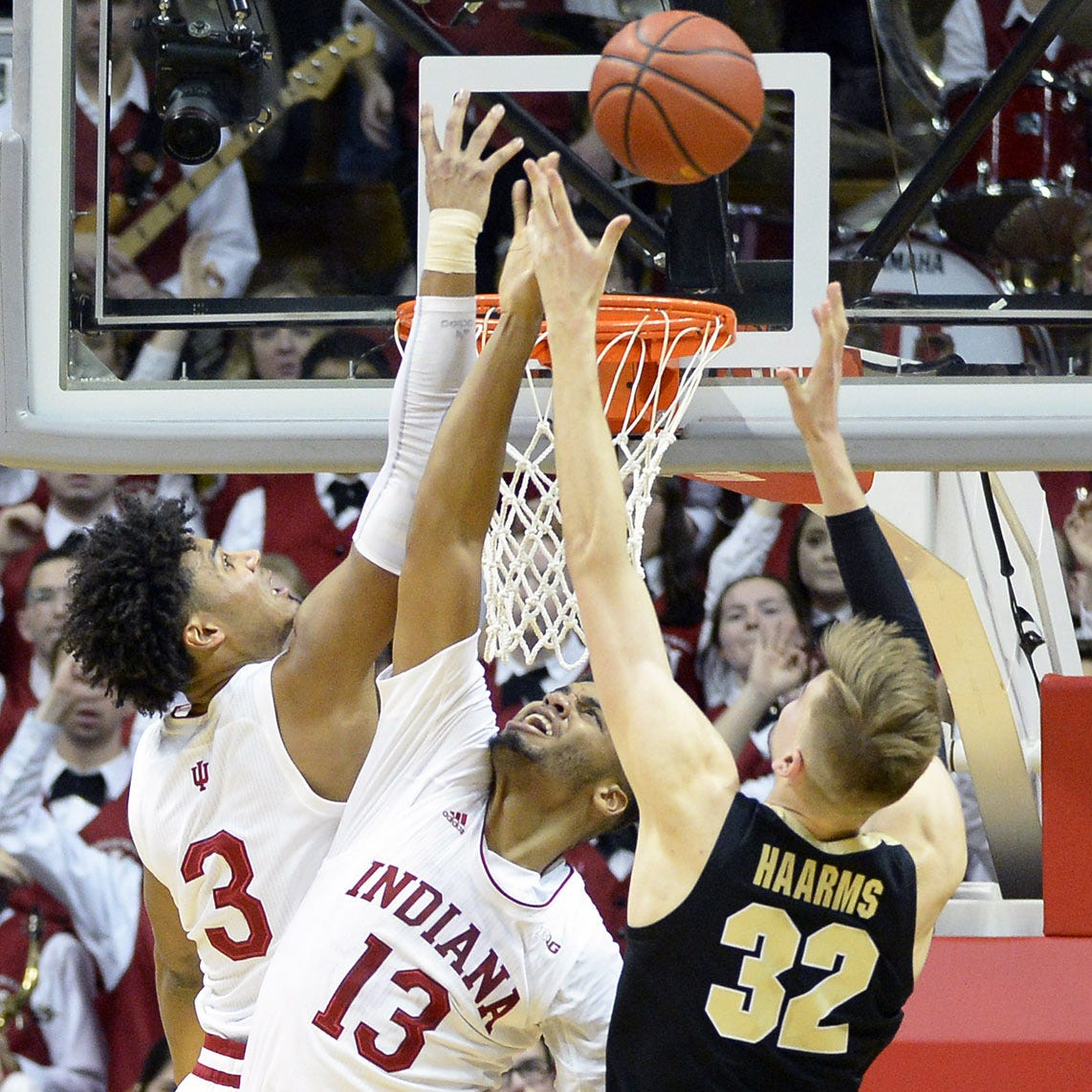See Matt Haarms' game-winner as Purdue beat Indiana basketball