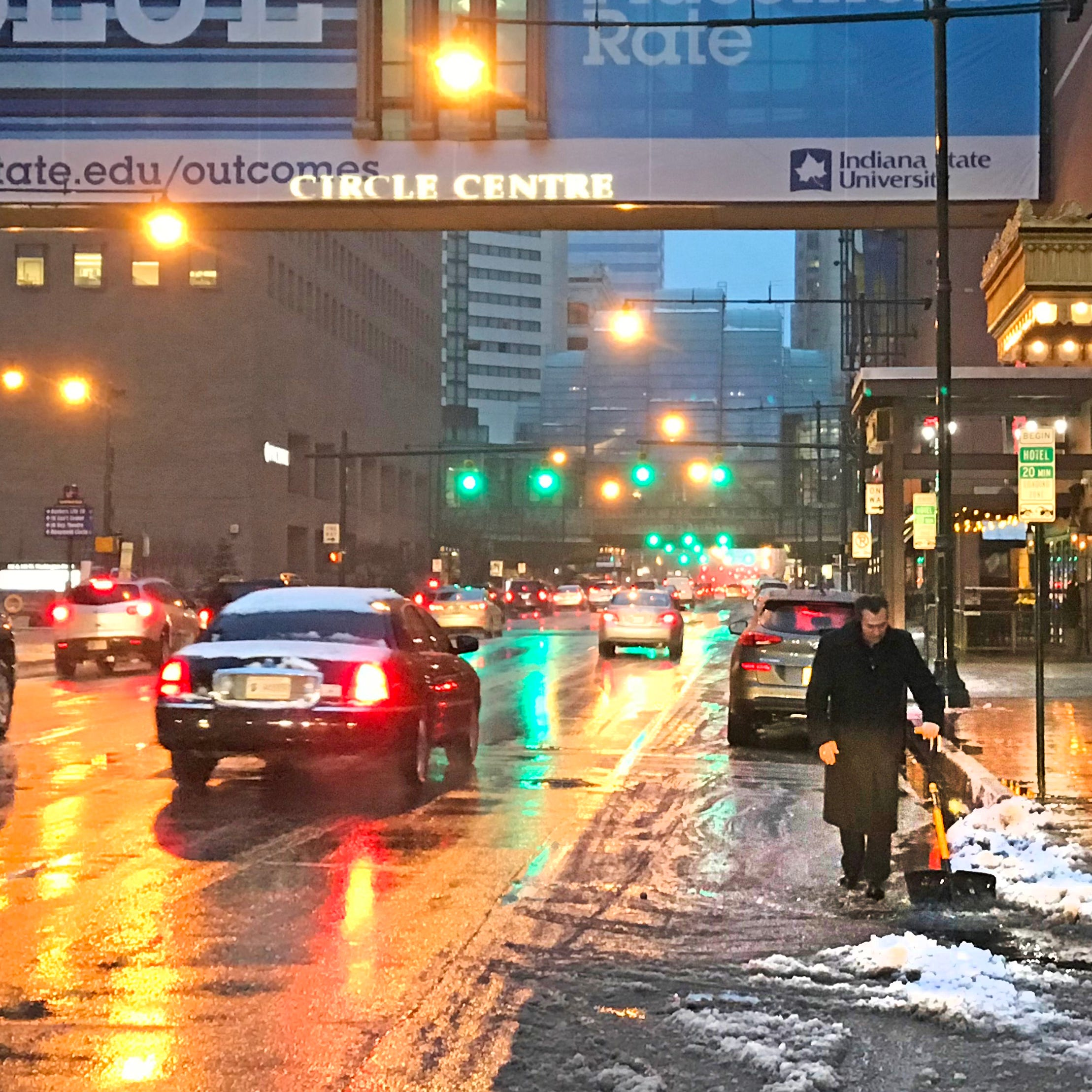 Indianapolis weather: Winter storm leaves slick roads in Central Indiana