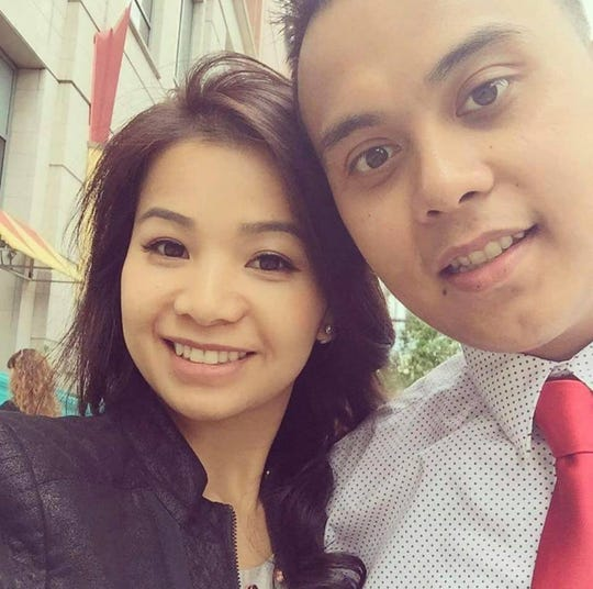 Le Thi My Van, left, and Dr. Phung Minh Le  were engaged. They were held hostage during a 12-hour standoff and found dead in a home in Clinton, Mississippi, on Saturday, Feb. 16, 2019.