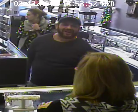 One man and two women allegedly took more than $5,000 worth of jewelry from Morris Jewelers in Brownsville on Feb. 13.