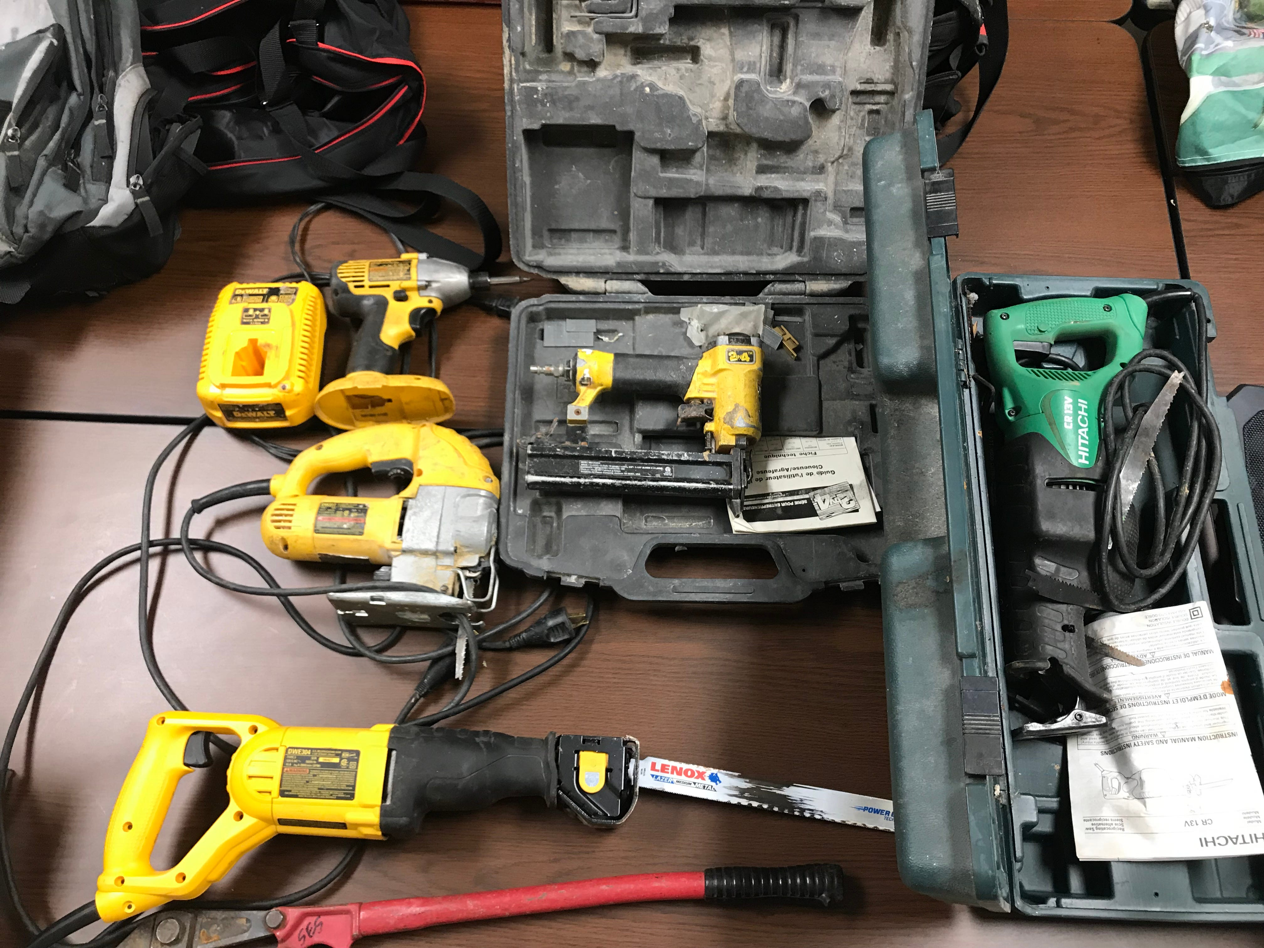 Various power tools were among hundreds of items Madison County Sheriff's Office recovered from a theft ring believed to be targeting grieving families and others throughout West Tennessee.