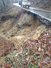 A landslide closed one lane of State Route 66 in Hawkins County on Wednesday.