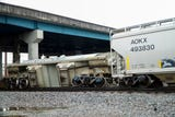 No injuries were reported and no leaks were detected after a cargo train derailed in Knoxville on Wednesday afternoon, authorities said.