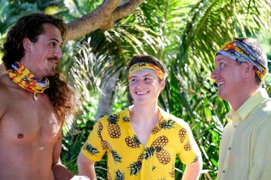 "Joe Anglim, Gavin Whitson and Ron Clark on ""Survivor: Edge of Extinction."""