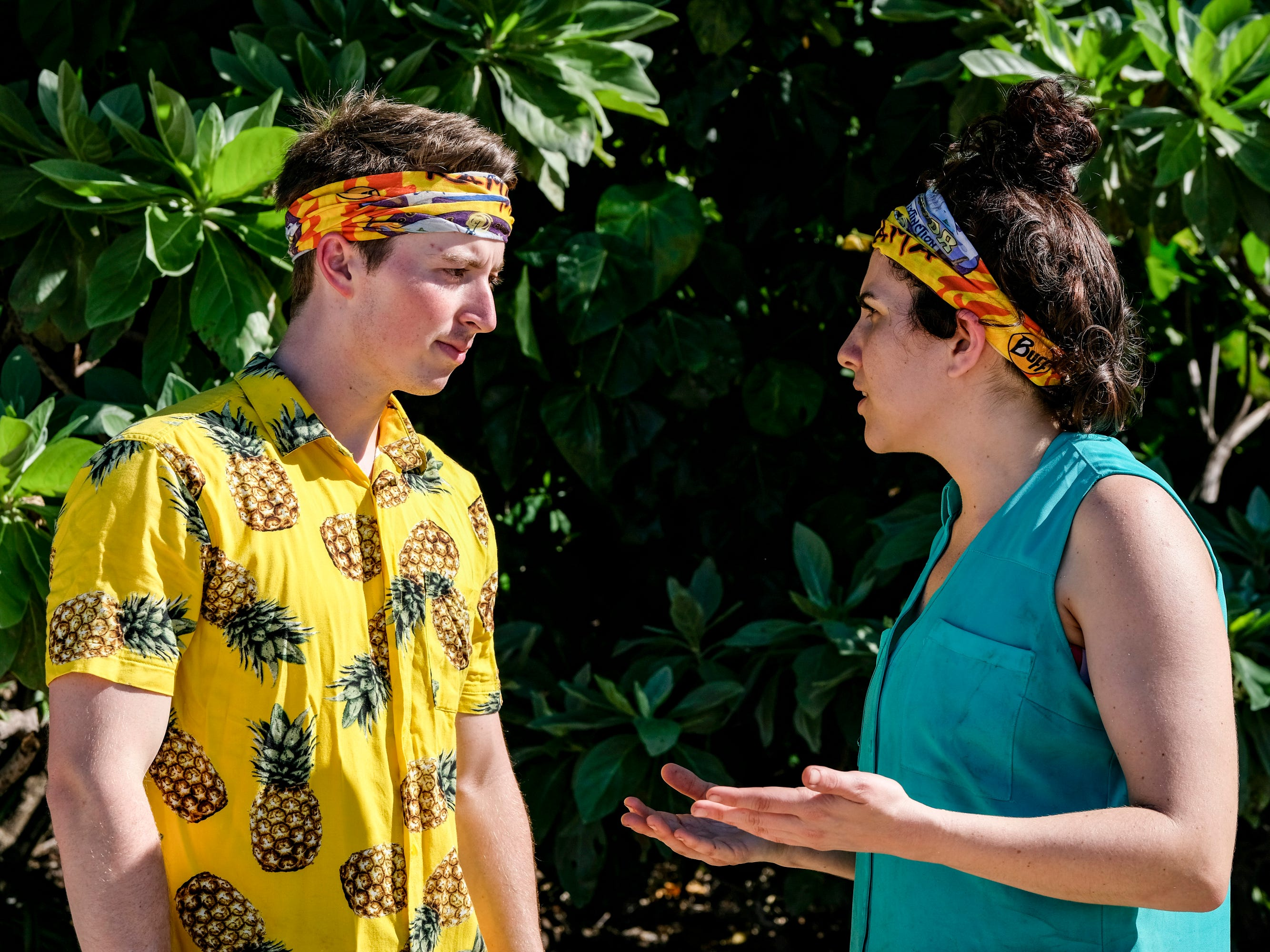 "Gavin Whitson and Aubry Bracco on ""Survivor: Edge of Extinction."""