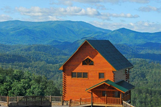 One of Dollywood's Smoky Mountain Cabins.