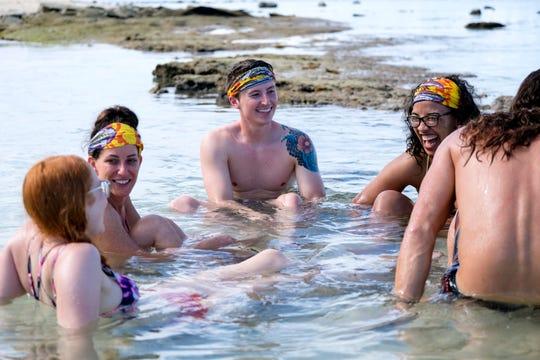 """Julie Rosenberg, Gavin Whitson and Julia Carter on """"Survivor: Edge of Extinction."""""""