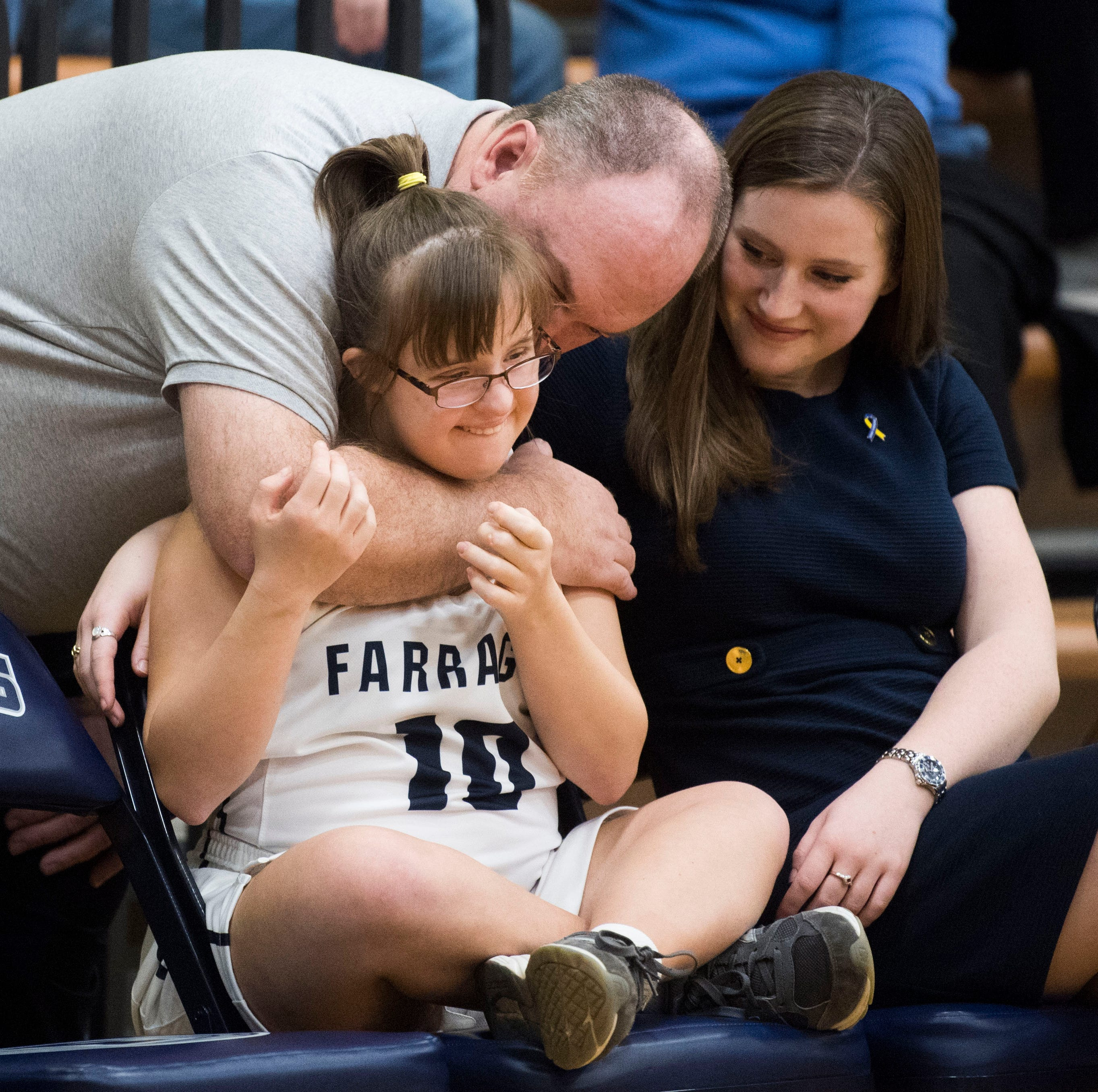 Farragut girls basketball player with Down syndrome 'always that source of encouragement'