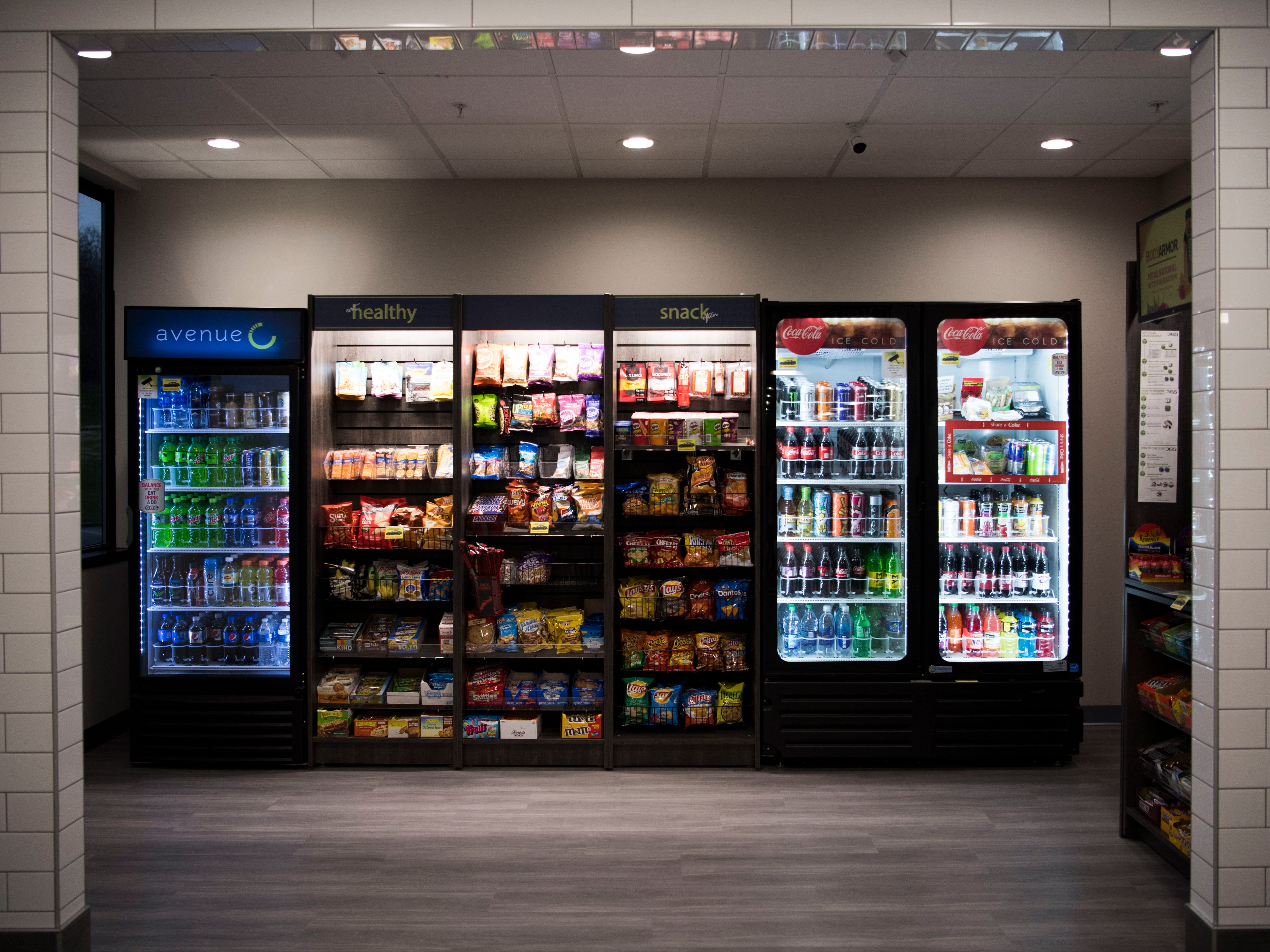A high-end vending area at Ts117, a new coworking space in Oak Ridge run by brothers Rick and Ryan Chinn, Tuesday, Feb. 19, 2019.