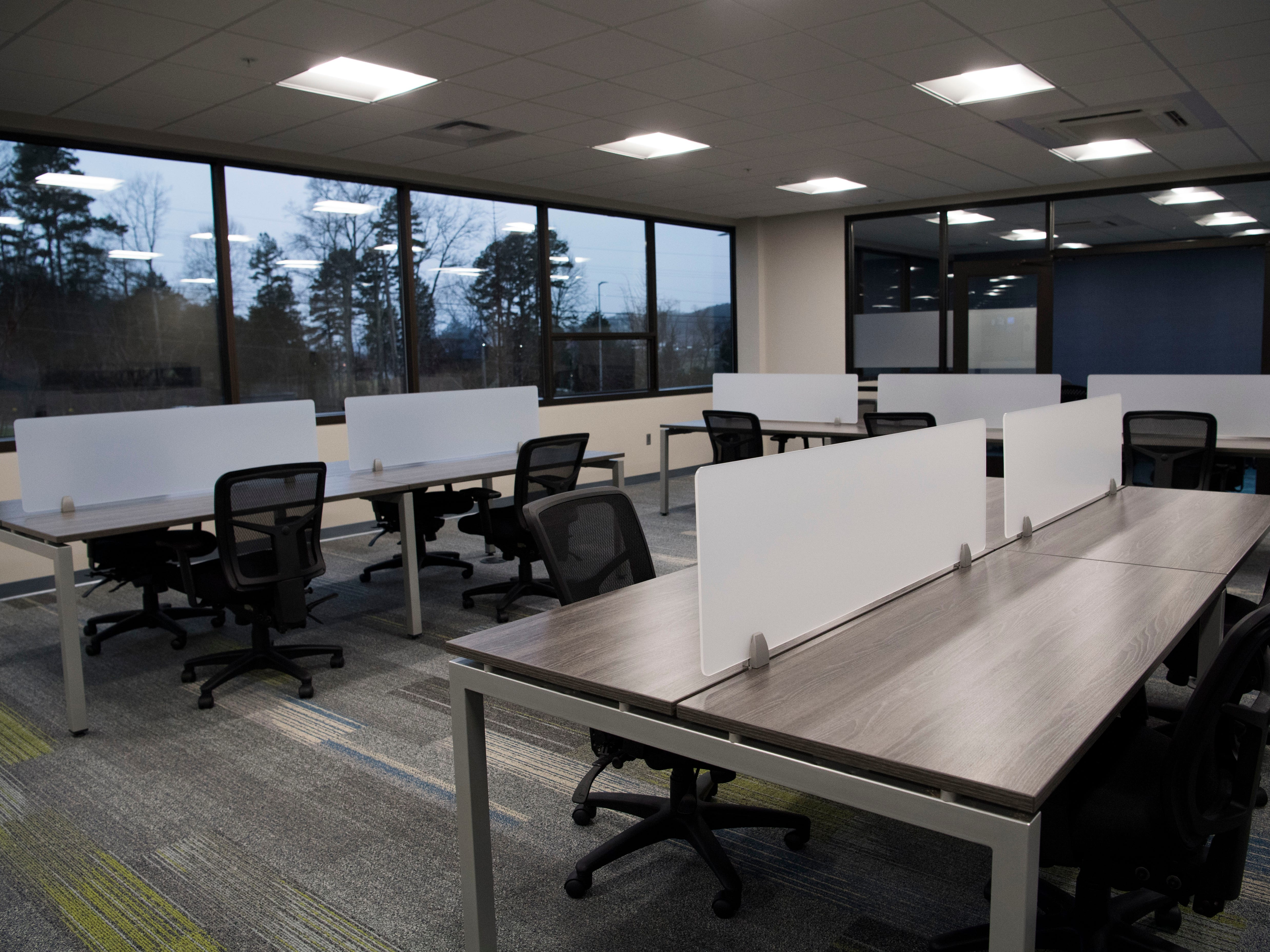Ts117 is a new coworking space in Oak Ridge run by brothers Rick and Ryan Chinn, Tuesday, Feb. 19, 2019.