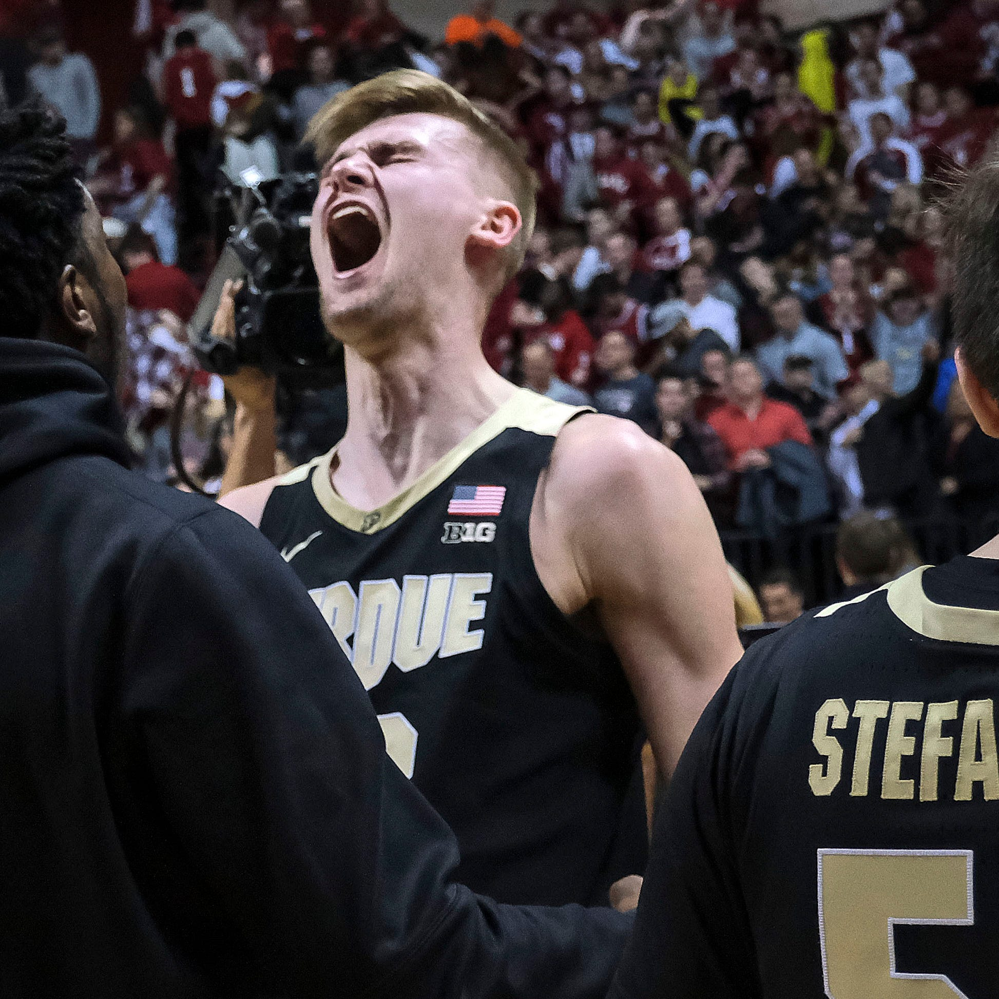 Purdue basketball slips past Indiana and into first place on Matt Haarms tip-in