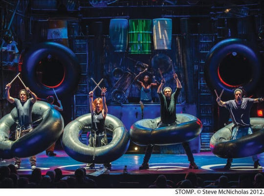 STOMP will perform Thursday, March 21, at Murphey Performance Hall, 72 W College Ave.
