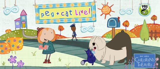 Peg+Cat Live! The Big Dog Problem will be presented by Purdue Convocations. at 3 p.m. March 3, 2019, in Loeb Playhouse, Purdue Stewart Center.