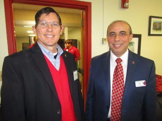 Dave Comeaux and Ahmed Khattab at a UL College of Engineering event.